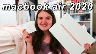 "2020 13"" GOLD MACBOOK AIR UNBOXING!"
