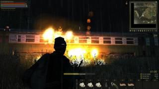(тестовый сервер) Stalker Online граната и коктейль Молотова