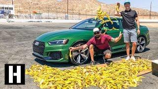マリオカートで定番の妨害アイテム「バナナの皮」 実際の車でもスリップするのか?実験してみた。