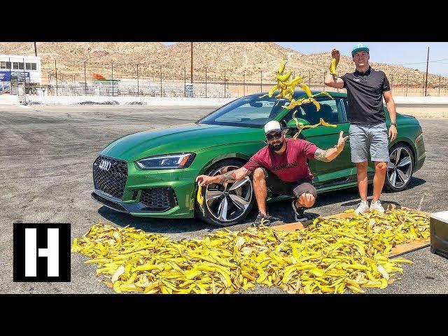 Will Banana Peels Make a Car Spin Out?? Mario Kart IRL!