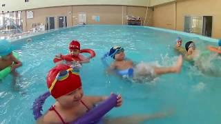 Детская тренировка по плаванию дети 4-6 лет