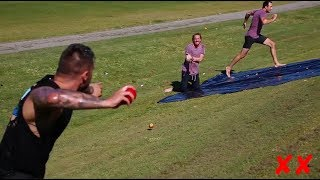 FRUIT NINJA SLIP N SLIDE!