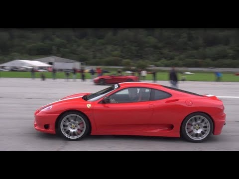 Ferrari 360 Challenge Stradale Full Acceleration Best Ferrari Sound