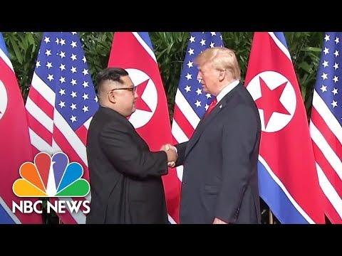 President Trump and Kim Jong Un Shake Hands At Summit | NBC News