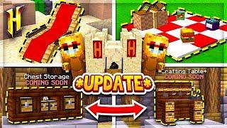Hypixel Skyblock : *NEW* FURNITURE &amp MINION SKINS! l Minecraft Skyblock (32)