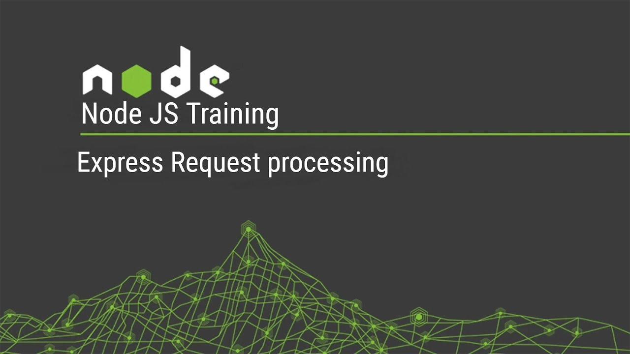 Node JS Training Express Request processing