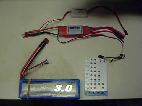 ESC Programming using the Program Card