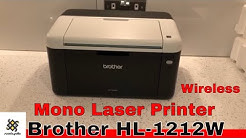 Brother HL-1212W Mono Laser Printer Unboxing
