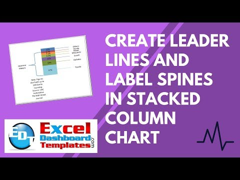 Create Leader Lines and Label Spines in Excel Stacked Column Chart