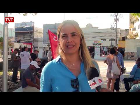 Em Maceió, trabalhadores protestam contra privatizações