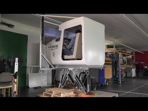Cessna 172 Full Motion Flight Simulator - Thunderstorm Flying!