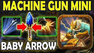 Flak Cannon = Side Gunner + Splinter Arrows [Permanent AoE Attack] Ability Draft Dota 2