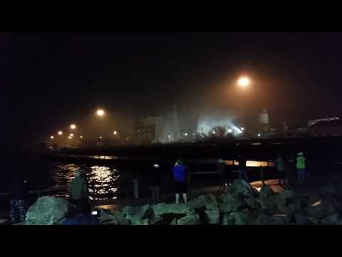 Lakeshore power plant demolition Cleveland ohio