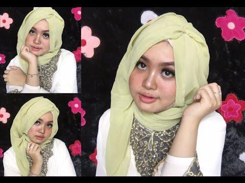 8 Tutorial Hijab Lebaran Idul Fitri 2016 pashmina sifon ceruty by @olinyolina  YouTube