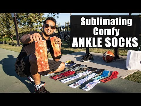 How to make COMFY Sublimated ankle socks Streetwear vs Athletic