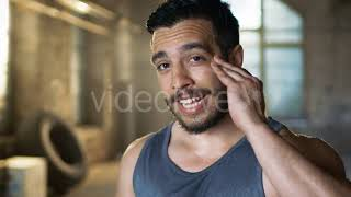 Athletic Woman Trains Her Punches on a Punching - (sports) Stock Footage | Mega Pack +40 items