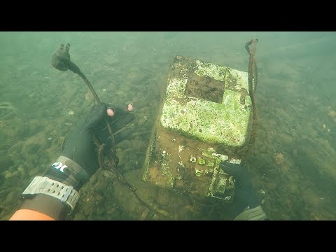 Thumbnail: Found Old Cash Register in River While Scuba Diving! (Money Inside??)