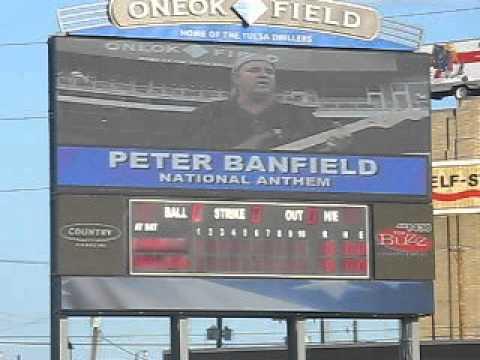 Peter Banfield:  National Anthem at Tulsa Drillers Stadium