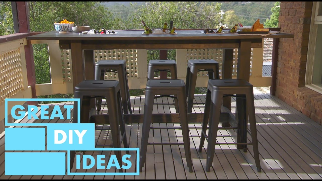 How To Make An Outdoor Bar Table, Diy Outdoor Bar Top Table