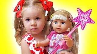 Diana Pretend Play with Baby Oliver | Funny stories for kids