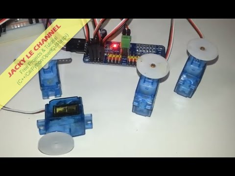 Control Multi Servo motor by Raspberry Pi and PCA9685 driver