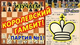 Двойной удар привел к проигрышу! Королевский гамбит - шахматная ловушка 1!