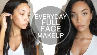 Glowing acne coverage everyday makeup routine | raven elyse