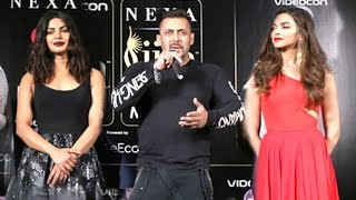 Salman Khan Making FUN Of Deepika Padukone & Priyanka Chopra At IIFA Awards 2016 Conference
