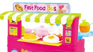 Fast Food Bus Kitchen Miniature Kitchen Play Set Unboxing