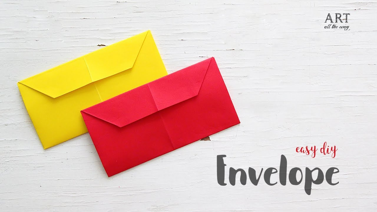 Simple Envelope That You Can Make In Minutes Diy Craft Ideas Youtube