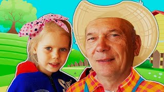 Skip to my Lou | Kids song by Vitalina and grandfather!