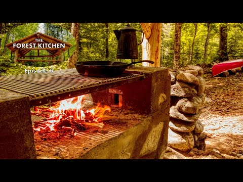Barbecue (BBQ) Ham and Eggs | The Forest Kitchen | Off Grid Log Cabin Build, Ep.6 S1