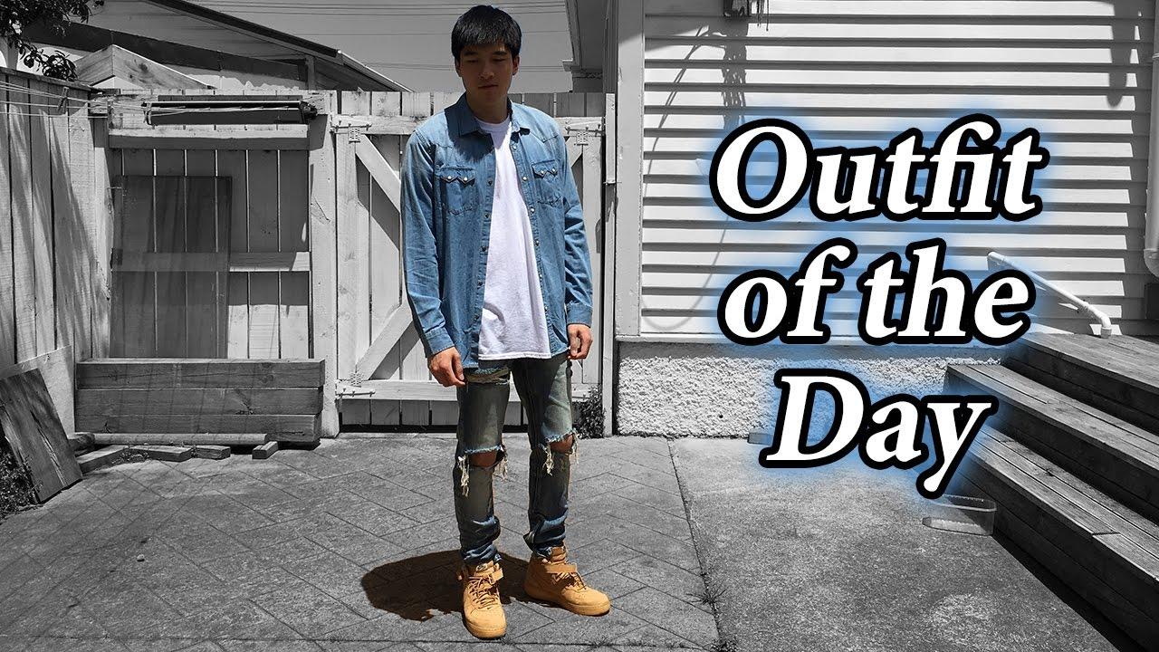 quality design fa2e0 21c7b Outfit of the Day   Denim on Denim w  Air Force 1 Flax, MNML LA, Pablo  Merch   Zara   67  - YouTube