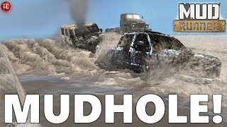 SpinTires MudRunner: NEW MUD HOLE! (Testing Grounds Map)