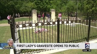 First lady's gravesite opens to public