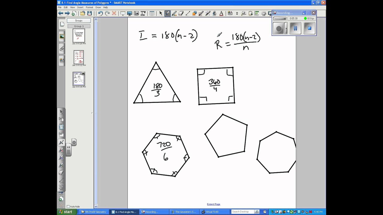 how to find the degrees of a polygon