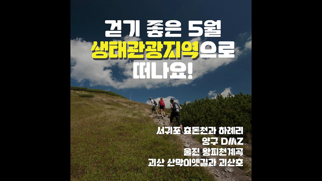 [카드뉴스] 걷기 좋은 5월 생태관광지역으로 떠나요!