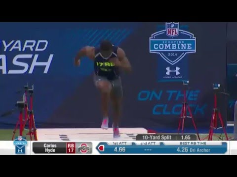 2014 Combine workout: RB Carlos Hyde