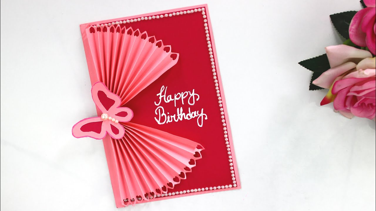 how to make butterfly birthday card  handmade easy card