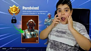 I WON the SECRET SKIN of the FILMING at FORTNITE!!! (The visitor)