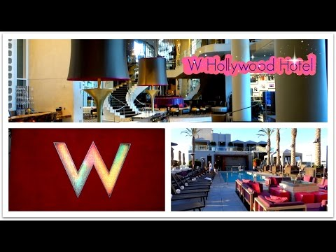 W Hollywood Hotel, Hollywood Boulevard, Los Angeles, Room, Lobby & Rooftop Pool