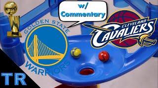 NBA Finals 2018 Marble Race: Warriors vs Cavs - Toy Racing