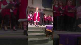 Grace sings Where Are You Christmas by Cindy Lou Who December 2018