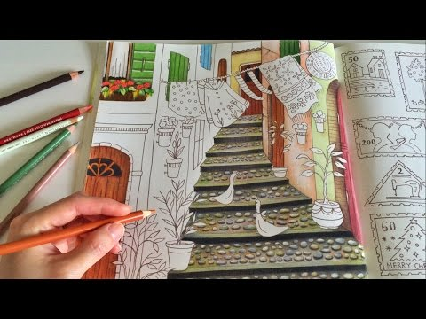 happy-village-(part-2)- -romantic-country:-a-fantasy- -coloring-with-colored-pencils