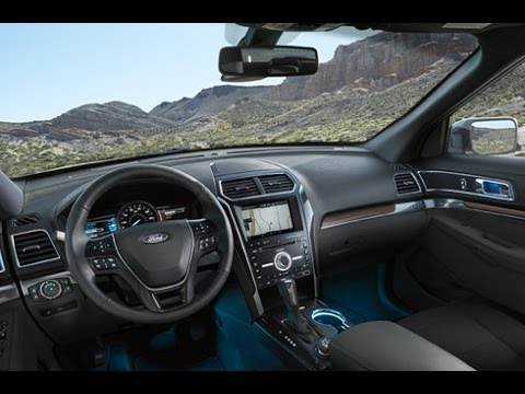 ford explorer 2017 rese a interior 2 youtube. Black Bedroom Furniture Sets. Home Design Ideas