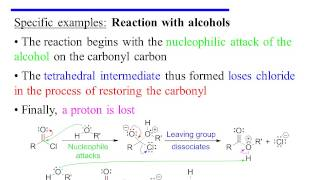 Nucleophilic Acyl Substitution of Acid Chlorides