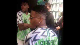 WIZKID, Alex Iwobi Unveiling New Nigerian Super Eagles Jersey