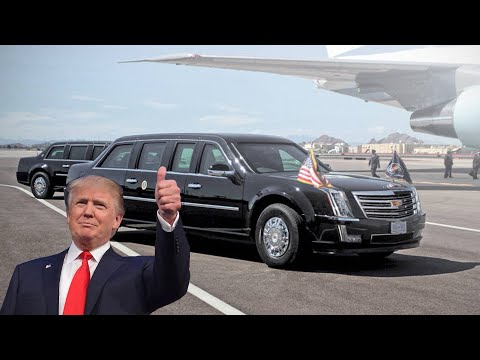 White House security: President Trump's new car 'Cadillac One'; White House intruders - Compilation