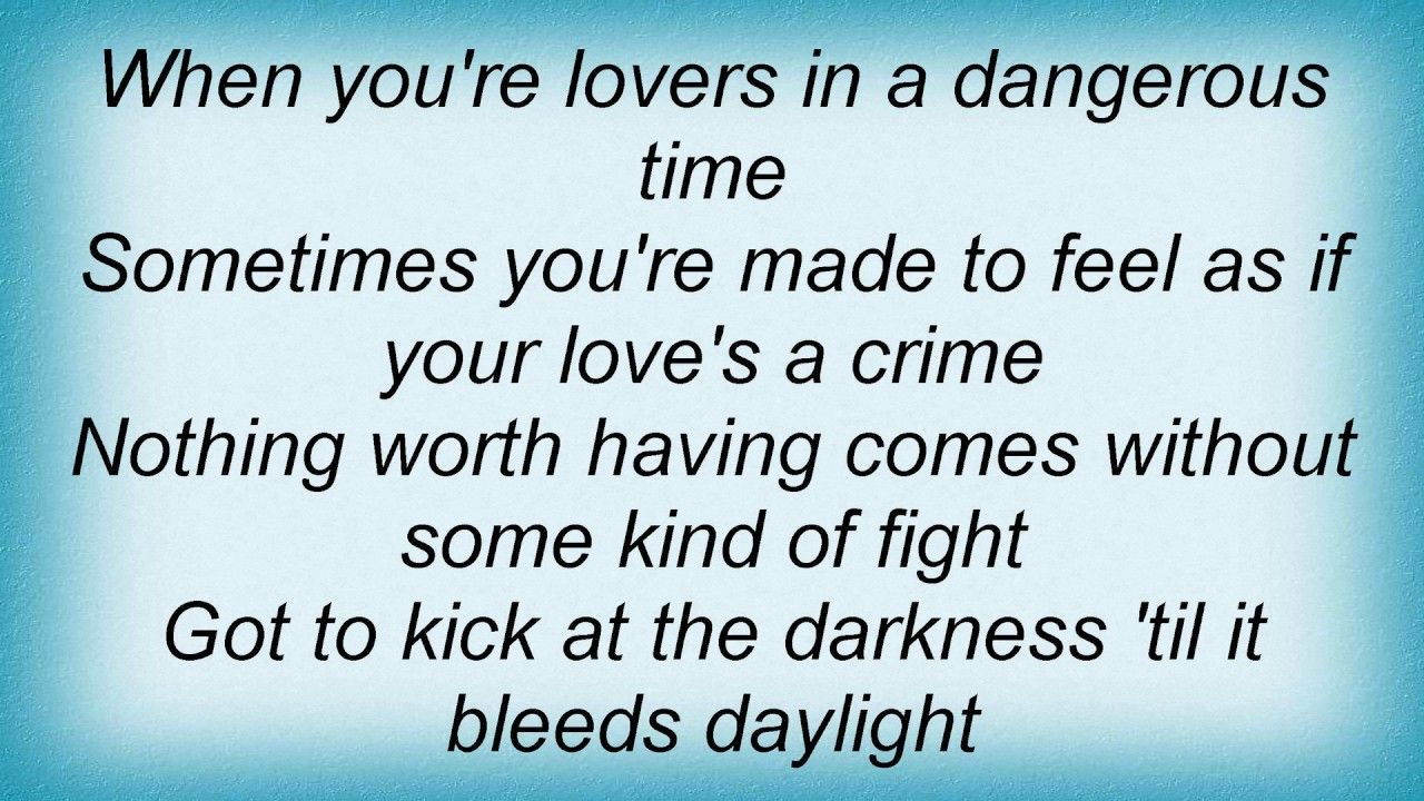 Bare naked ladies lyrics lovers