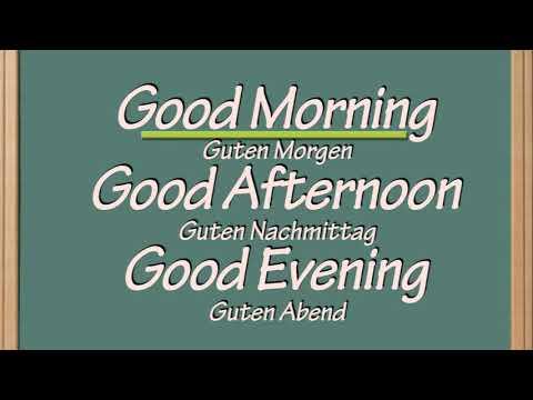 Guten Morgen Auf Englisch Good Morning In English Youtube